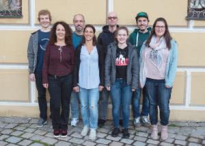 hinten von links: Marcus Ruf, Thorsten Möbius, Harald Toepke, Andreas Edler - vorne von links: Heidi Weidner, Marika Matysik, Julia Toepke, Stefanie Roth